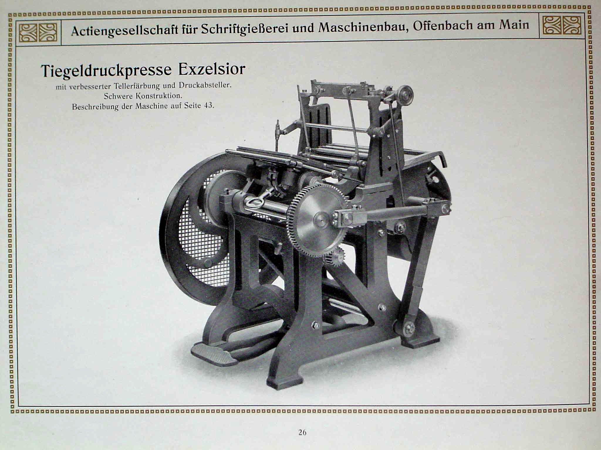 The liberty platen press articles for Maschinenbau offenbach